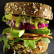 Avocado And Turkey Sandwich Art Print