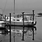 Avon Harbor Calm Reflection Bxw 1/13 Art Print