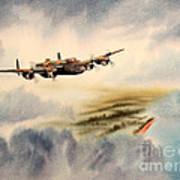 Avro Lancaster Over England Art Print