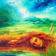 Awakening Blue Art Print