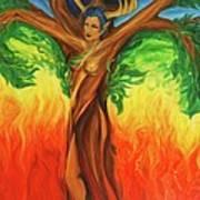 Awakening The Chakra Tree Art Print