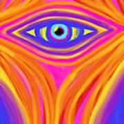 Awakening The Desert Eye Art Print