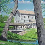 Award-winning Painting Of Beckman's Mill Art Print by Norm Starks