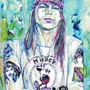 Axl Rose Portrait.1 Art Print