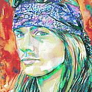 Axl Rose Portrait.2 Art Print