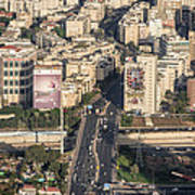 Ayalon Freeway And The Halacha Bridge Art Print