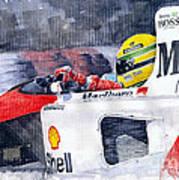 Ayrton Senna Mclaren 1991 Hungarian Gp Art Print