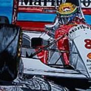 Ayrton Senna Monaco 93 Art Print