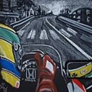 Ayrton Senna On Board At Monaco 89 Art Print