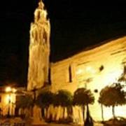 Ayuntamiento Por La Noche Art Print