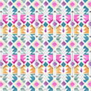 Aztec Inspired Arrow And Geometric Pattern One.jpg Art Print