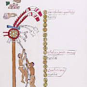 Aztec Month Hueymiccaihuitl Art Print