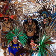 Aztec Performers O'odham Tash Casa Grande Arizona 2006  Art Print