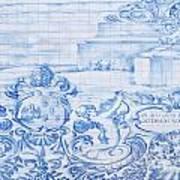 Azulejos Traditional Tiles In Porto Portugal Art Print