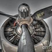 B-17g Bomber Prop Art Print