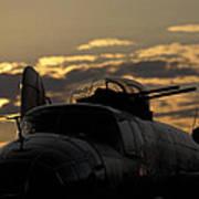 B-25 Sunset Art Print