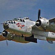 B-25 Take-off Time 3748 Art Print