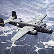 B-25 World War II Era Bomber - 1942 Art Print