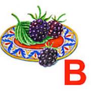 B Art Alphabet For Kids Room Art Print