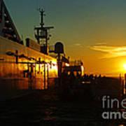 B C Ferries Sunsets Sc3417-13 Art Print