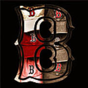 B For Bosox - Vintage Boston Poster Art Print