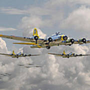 B17 486th Bomb Group Art Print