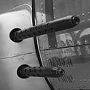 B17 Bomber Side Guns Art Print
