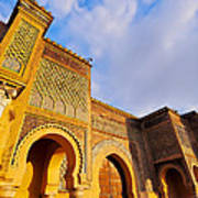 Bab Mansour In Meknes In Morocco Art Print
