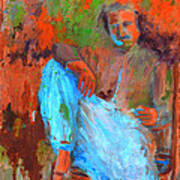 Baba In A Chair Art Print