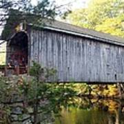 Babbs Covered Bridge In Maine Art Print