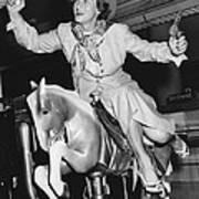 Babe Didrikson On Sidesaddle Art Print