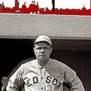 Babe Ruth As Member Of The Boston Red Sox National Photo Company Collection 1919-2013 Art Print