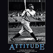 Babe Ruth Attitude  Art Print by Retro Images Archive