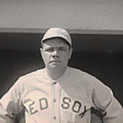 Babe Ruth With The Sox Art Print