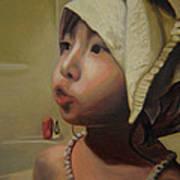 Baby Bath Mama Art Print