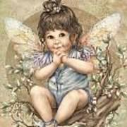 Baby Berry Fairy Art Print