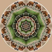 Baby Bison Mandala Art Print