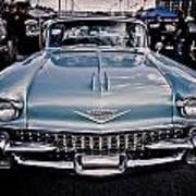 Baby Blue Cadillac Art Print by Merrick Imagery