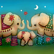 Baby Elephant Art Print by Karin Taylor