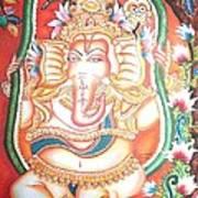 Baby Ganesha Swinging On A Snake Art Print