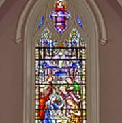 Baby Jesus Stained Glass Window Art Print