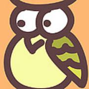 Baby Owl Nursery Wall Art Art Print