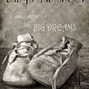 Baby's First Shoes Art Print