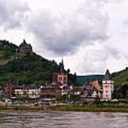 Bacharach Am Rhein And Burg Stahleck Art Print