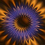 Bachelor Button Mandala Art Print