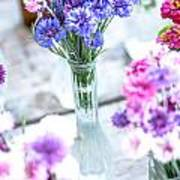 Bachelor Flowers Art Print