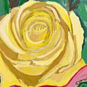 Back Bay Yellow Rose Art Print