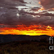 Back Country Sunset Art Print