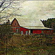 Back Road Barns  Art Print by Dianne  Lacourciere