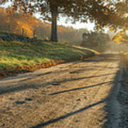 Back Road Morning Art Print by Bill Wakeley